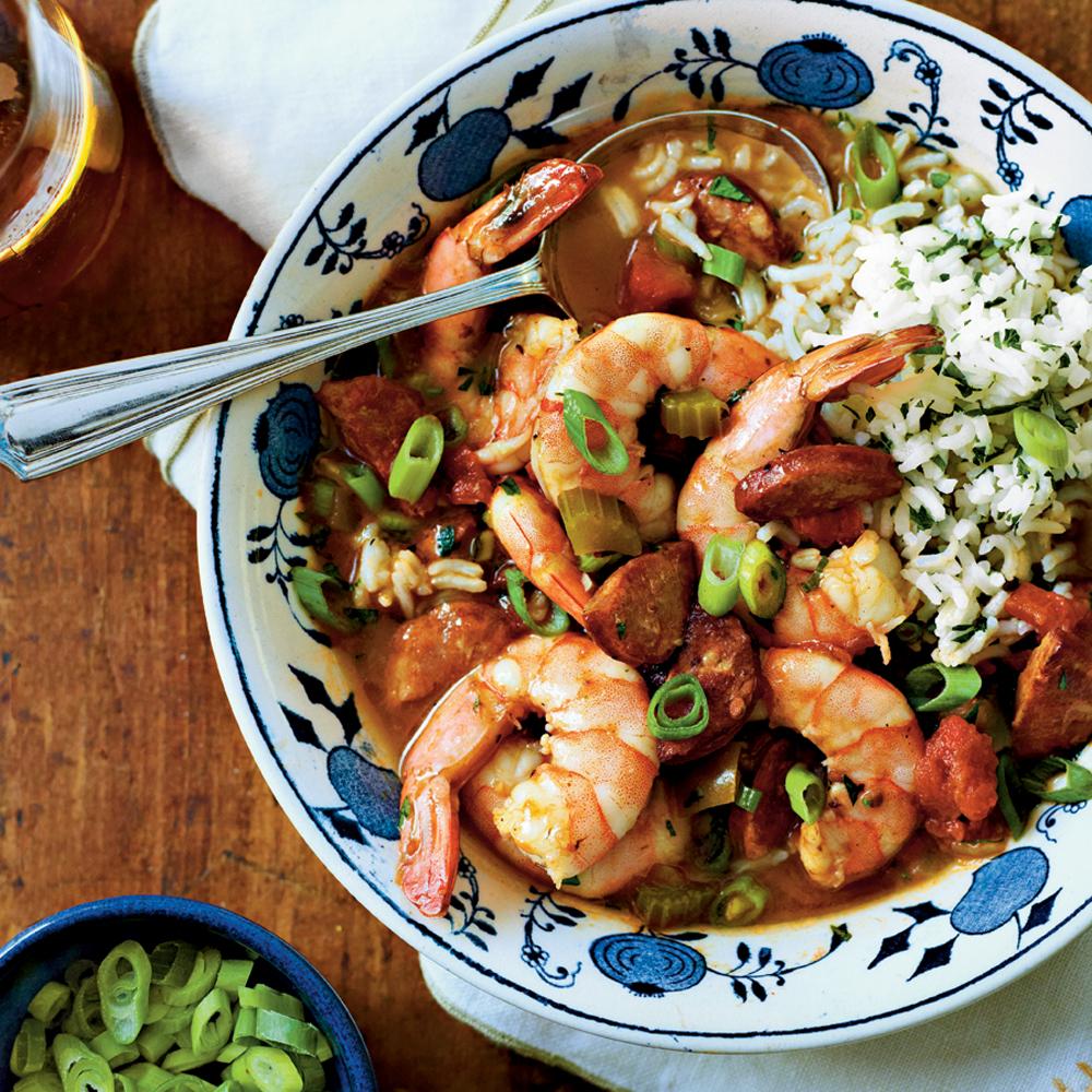 Shrimp-and-Sausage Gumbo Recipe