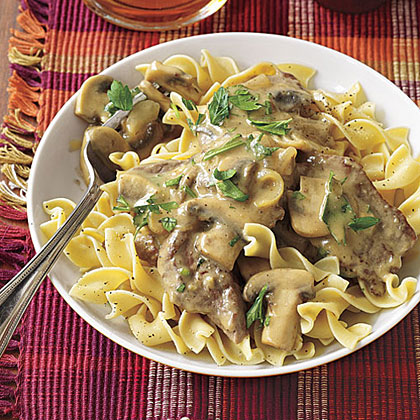 Beef and Mushrooms Dijon