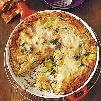 Pasta and Vegetable Frittata Recipe