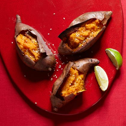 <p>Quick-and-Easy Twice-Baked Sweet Potatoes</p>
