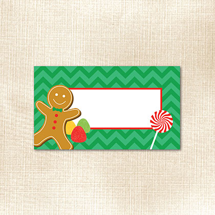 Gingerbread Chevron Place Card