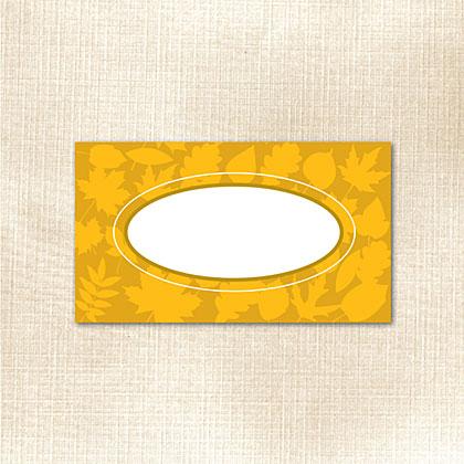 Gold Leaf Place Card