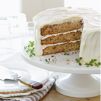 Hummingbird Cake RecipeExactly how this cake got its name isn't clear, but it likely has to do with its flavor, sure to suit those nectar-loving hummingbirds and anyone with a love of dessert. The tropical fruit- and nut-studded cake first appeared in Southern Living magazine in 1978. It's since become a signature cake of the South.