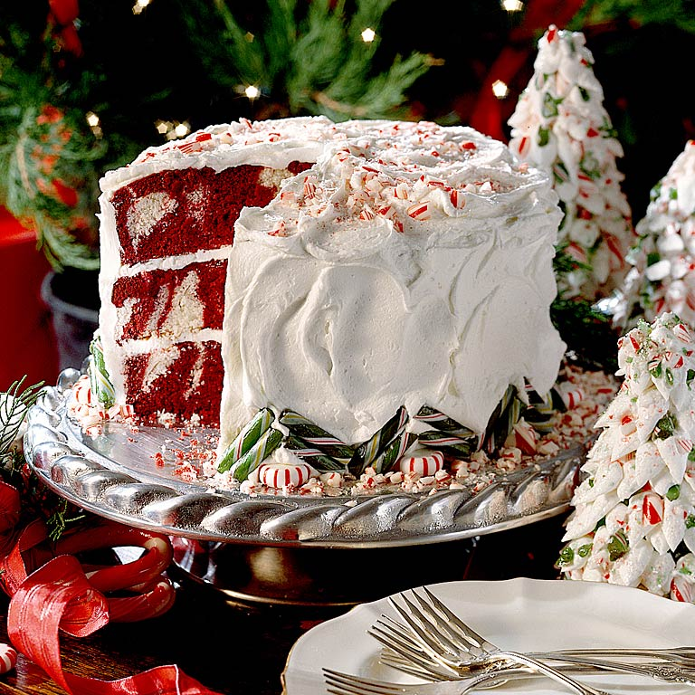 Red Velvet Peppermint CakeRecipe