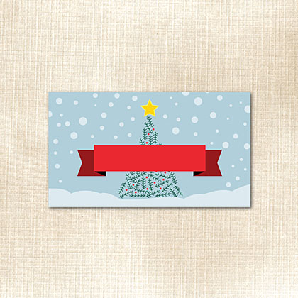 Snow and Tree Place Card