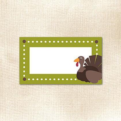 Turkey Place Card