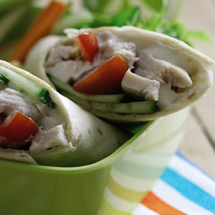 Chicken Cucumber Wraps