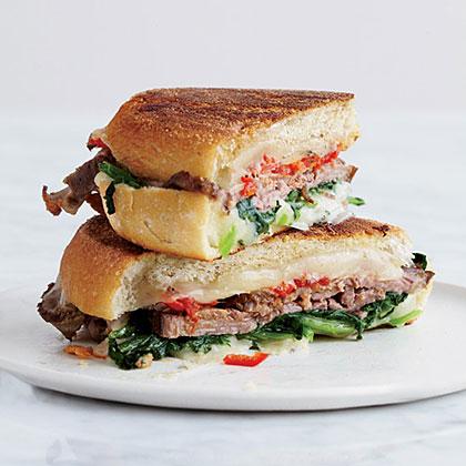 Beef, Broccoli Rabe and Provolone Panini