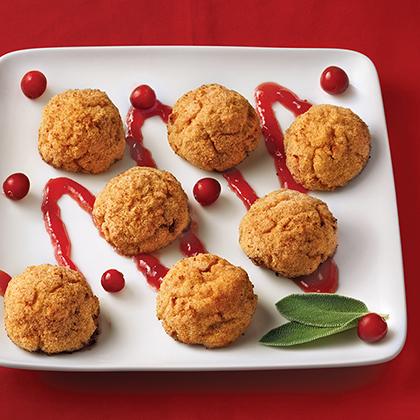 Mini Thanksgiving Bites with Cranberry Glaze