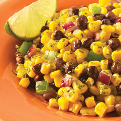 Fire Roasted Corn Black Bean Salad with a Lime Cumin Vinaigrette