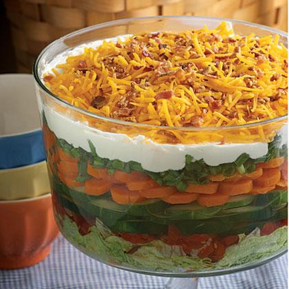 7th-Heaven Layered Salad Recipe