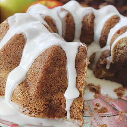 Apple-Walnut Coffee Cake RecipeNo brunch is complete without a moist, tender coffee cake topped with a sweet frosting.  This one features chopped apple, walnuts, cinnamon and nutmeg, so it's a great choice for a fall or holiday brunch.