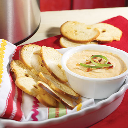 Bacon-Horseradish Dip RecipeThis creamy bacon dip is a slow-cooker favorite, making it an effortless appetizer.