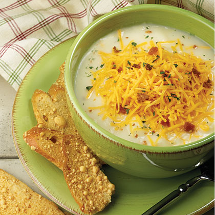 <p>Baked Potato-Cheddar Soup</p>