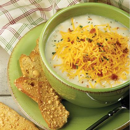Baked Potato-Cheddar Soup