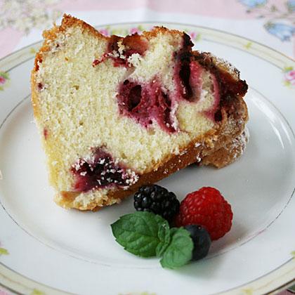 Bursting with Berries Bundt Cake