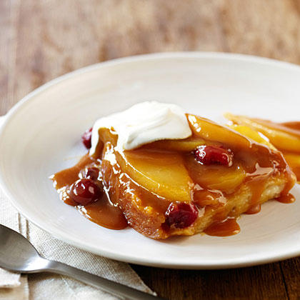Caramel Pear and Cranberry Pudding Cake Recipe | MyRecipes.com