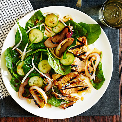 Chinese Black Pepper Pork and Spinach Salad Recipe