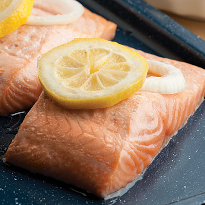 Foil-Wrapped Baked Salmon