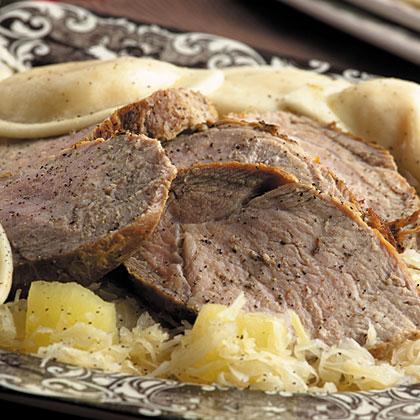 German Roast Pork & Sauerkraut