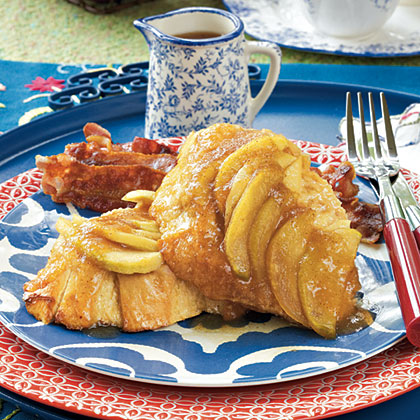 Overnight Apple French Toast RecipeThis savory breakfast treat is definitely worth the overnight wait. Taking a crazy spin on traditional french toast, this recipe yields a drool-worthy outcome. Soaked with brown sugar, apple jelly, and freshly sliced apples, this french toast recipe will soon become a family favorite.