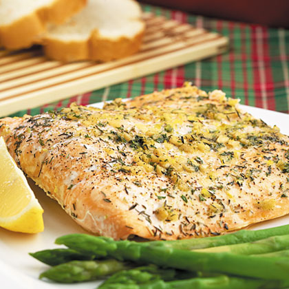 Roasted Citrus-Herb Salmon