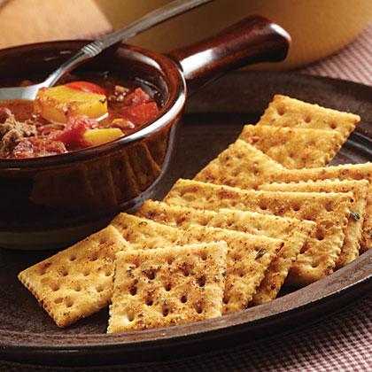 Spicy Chili Crackers Recipe | MyRecipes