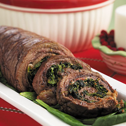 Steak & Spinach Pinwheels Recipe