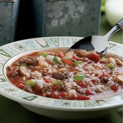 Unstuffed Green Pepper Soup Recipe