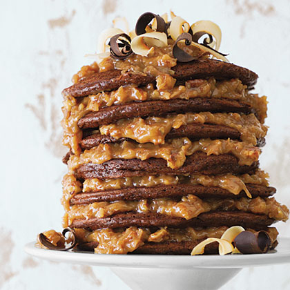 German Chocolate Pancakes Recipe