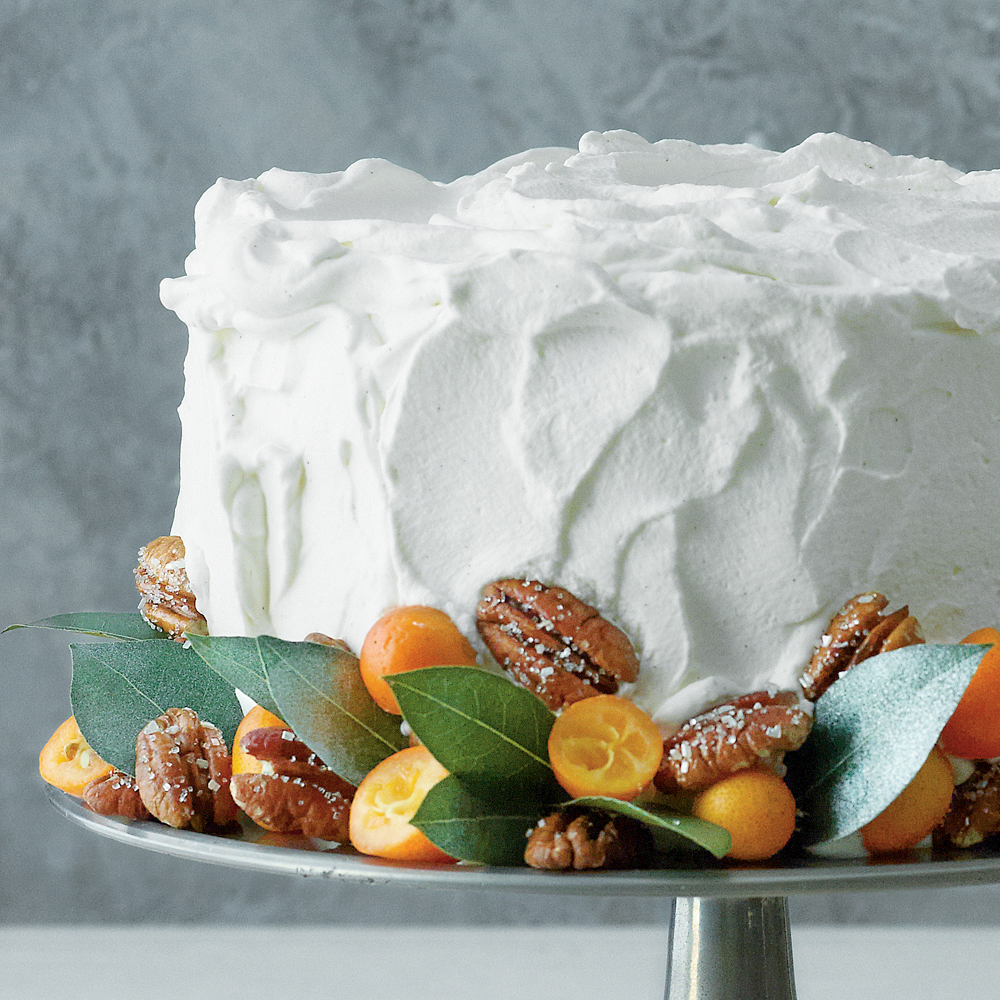 Marbled Pumpkin Praline Cake