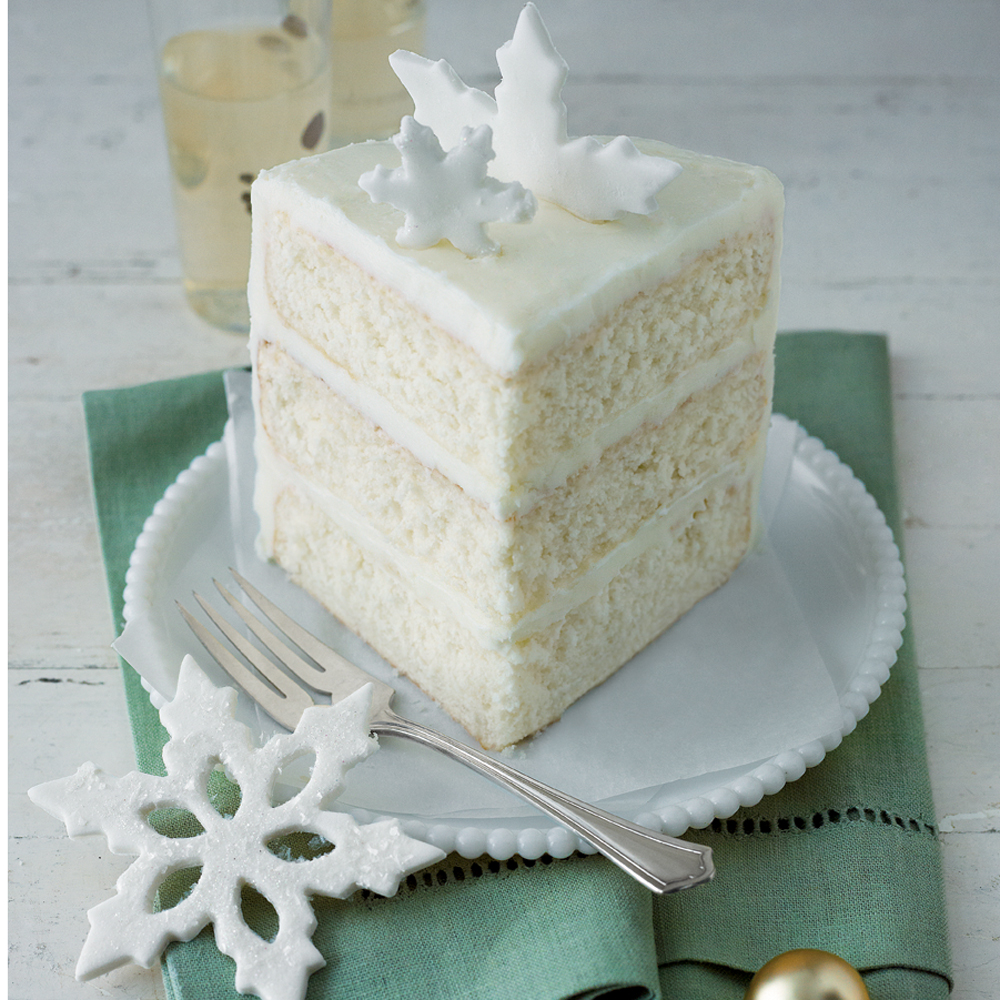 White Almond Wedding Cake From Box