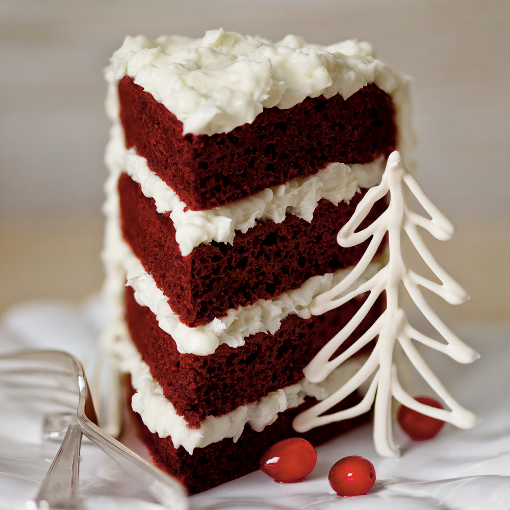 Red Velvet Cake with Coconut-Cream Cheese Frosting