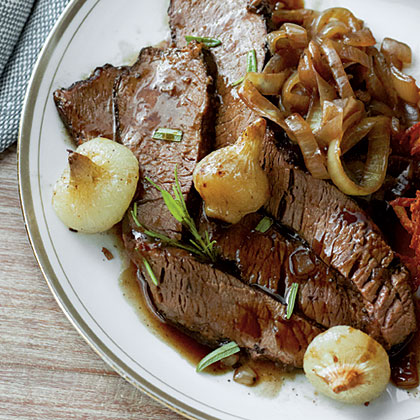 Red Wine-Braised Brisket with Caramelized Onions
