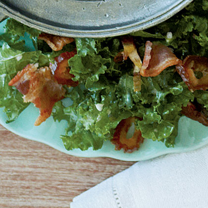 Shredded Kale Salad with Bacon and DatesRecipe