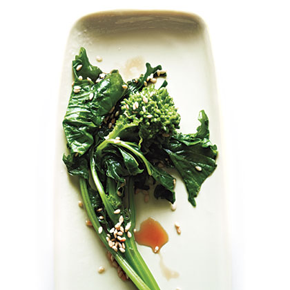 Broccoli Rabe with Sesame and Soy Recipe