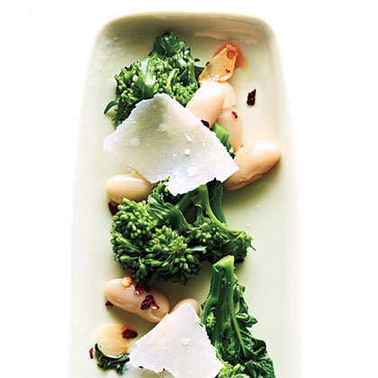 Broccoli Rabe with White Beans and Parmesan Recipe