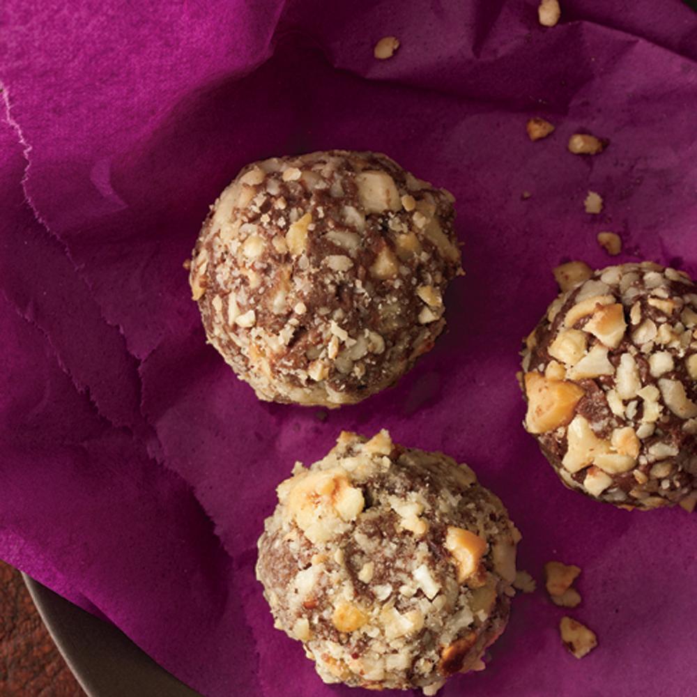 Chocolate-Triple Hazelnut Truffles