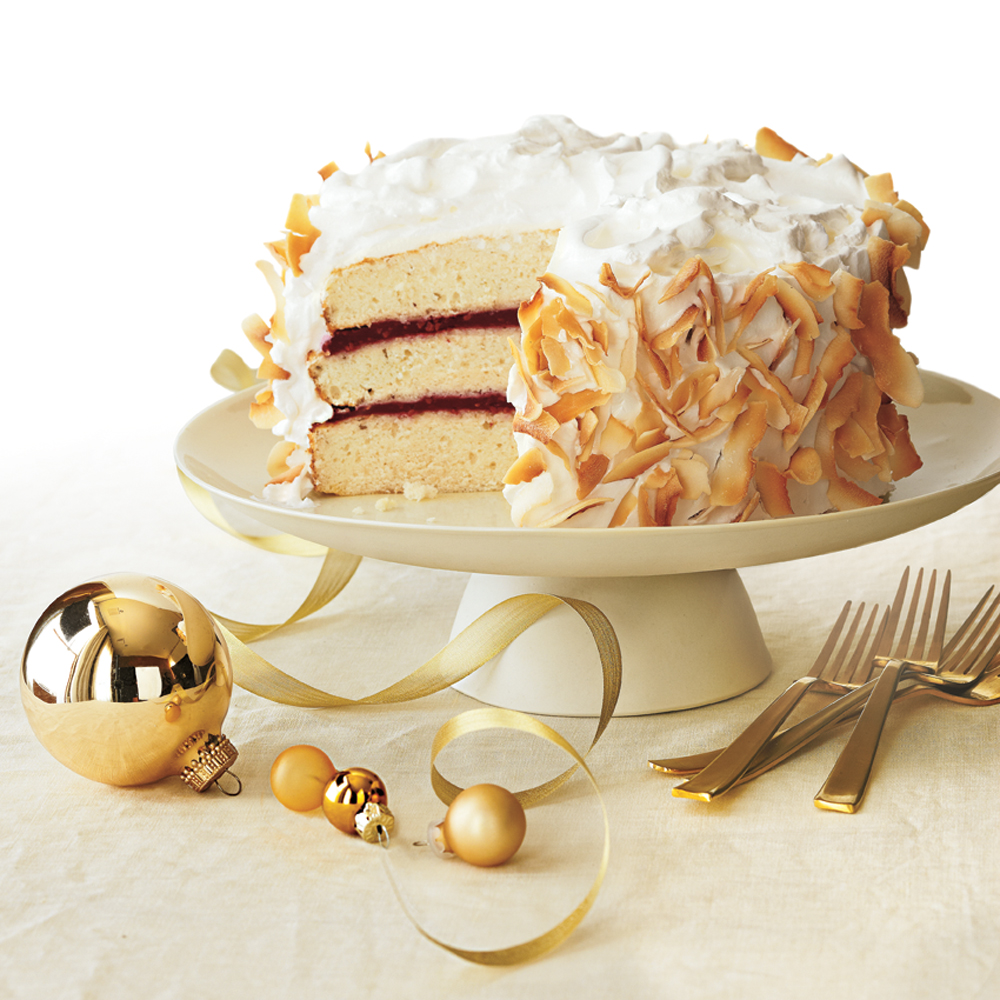 Coconut Cake with Raspberry Filling Recipe