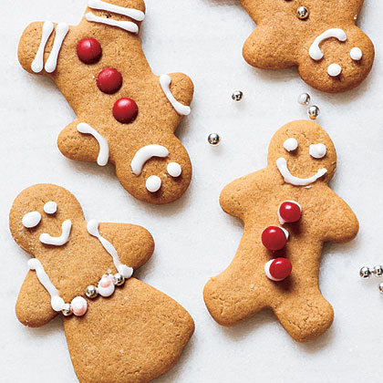 Gingerbread People RecipeThese adorable gingerbread people are only 124 calories per cookie! If you want to dress up the cookies, use red hot candies for buttons and currants for eyes; press those into the dough cut-outs before they're baked