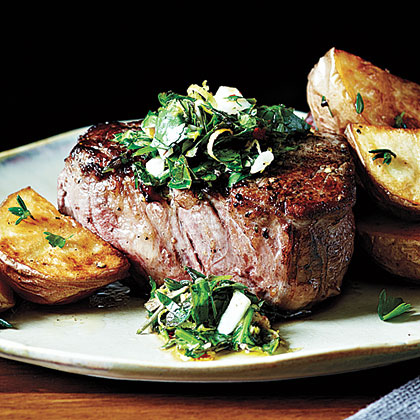 Peppercorn-Crusted Beef Tenderloin with Gremolata