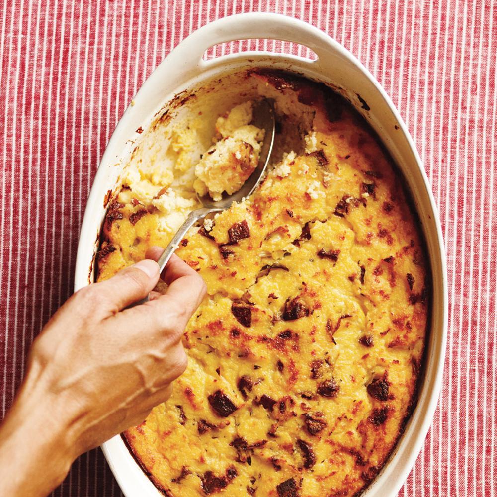 Breakfast Casserole Healthy: Sausage And Polenta Breakfast Casserole Recipe