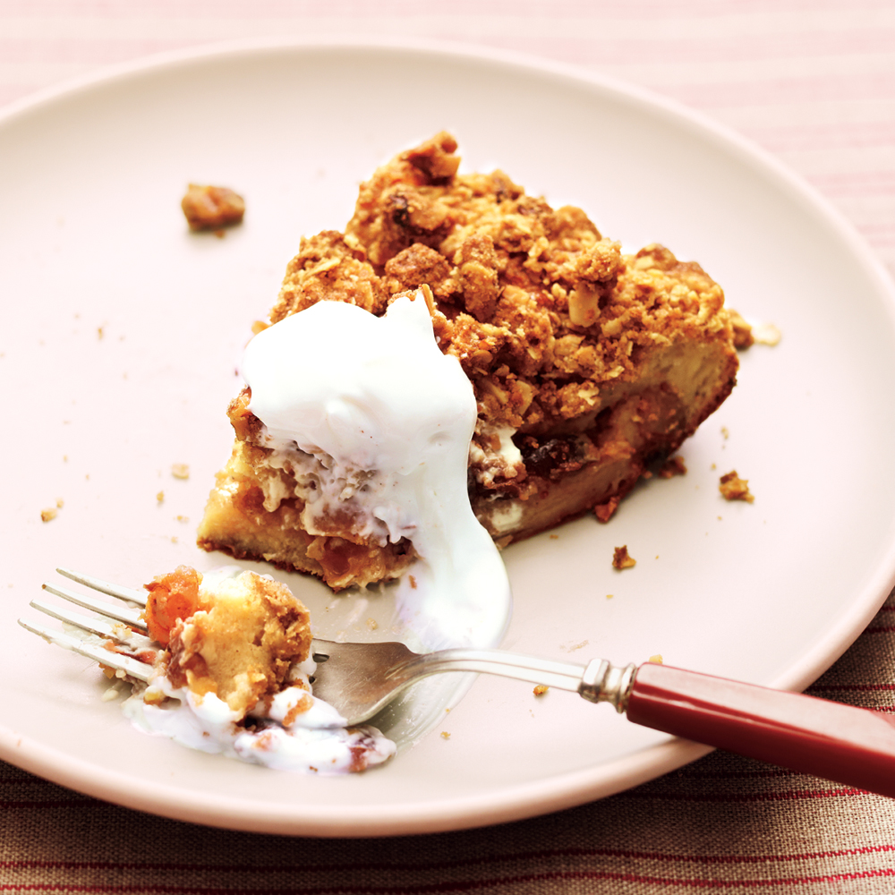 Streusel-Topped French Toast Casserole with Fruit Compote Recipe