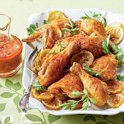 Crispy Chicken with Piquillo Pepper Sauce Recipe