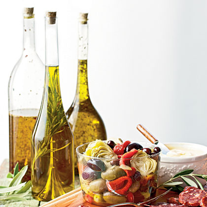 Herb-Infused Olive Oils: French