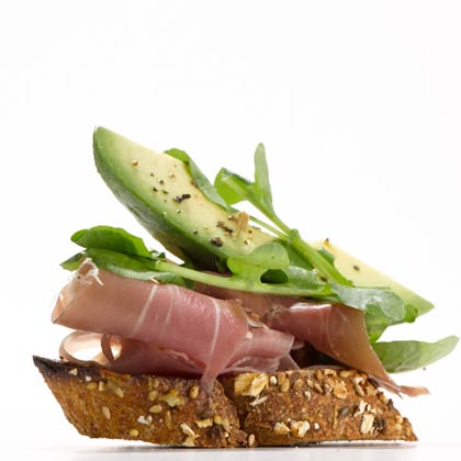 <p>Prosciutto and Avocado Crostini</p>