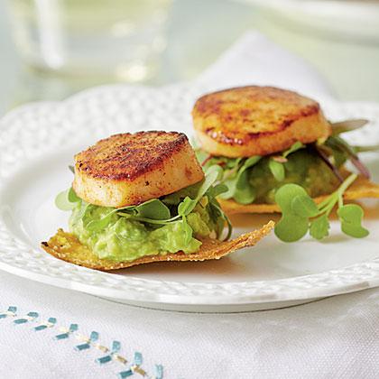 Scallop-and-Avocado Tostadas Recipe