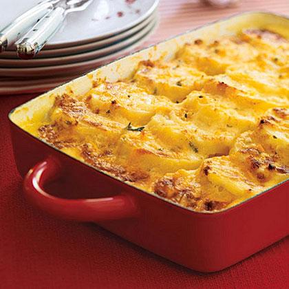 Three-Cheese Scalloped Potatoes Recipe | MyRecipes