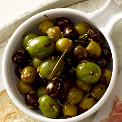 <p>Warm Olives with Rosemary</p>