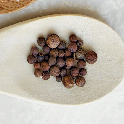Indigenous to South America and the West Indies, these berries taste like a combination of nutmeg, cinnamon, and cloves and are sold either ground or whole.